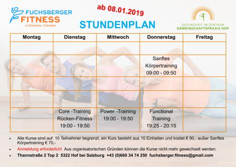 Kurse in Gemeinschaftspraxis Hof, Fitness punktgenau ab 24.09.2018